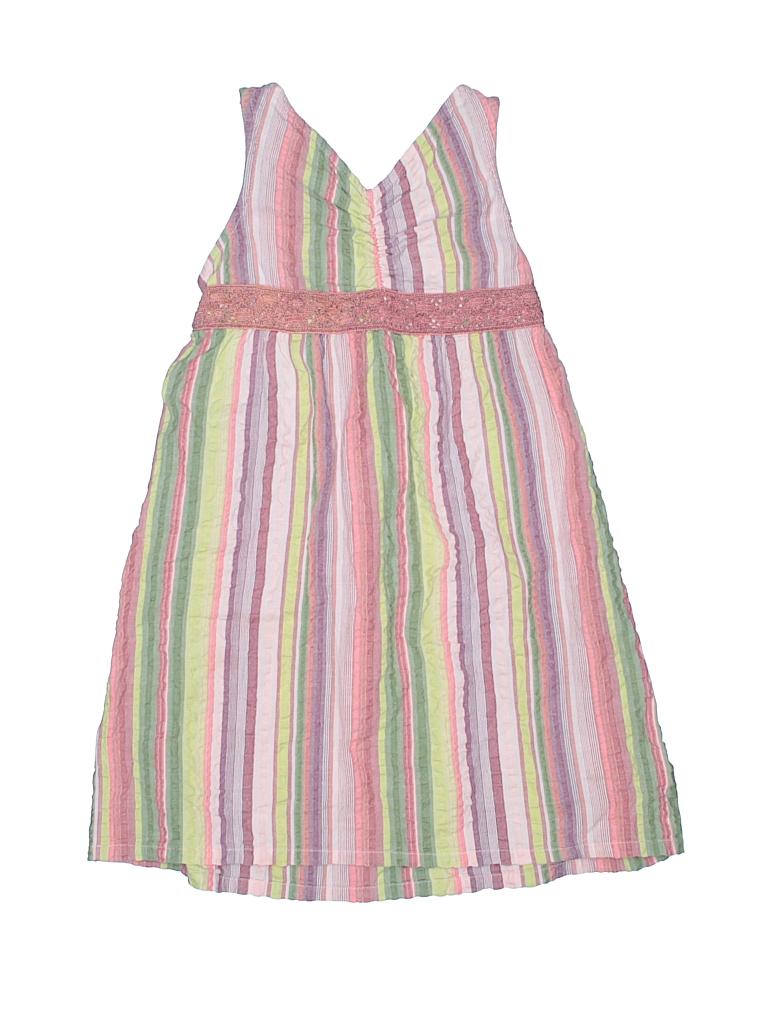 6d9b4e0a5da0e Garnet Hill 100% Cotton Stripes Brown Dress Size 4 - 88% off | thredUP