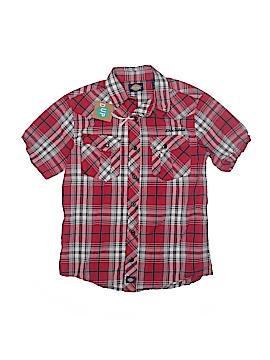 Dickies Short Sleeve Button-Down Shirt Size 8
