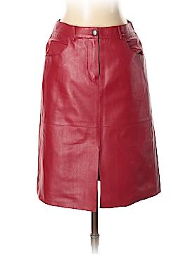 Tahari Leather Skirt Size 2