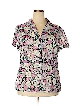 Sag Harbor Short Sleeve Blouse Size 1X (Plus)