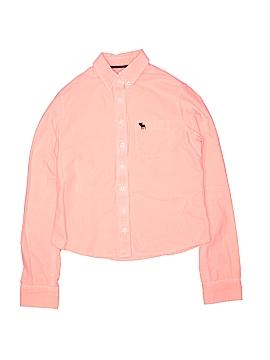 Abercrombie Long Sleeve Button-Down Shirt Size L (Kids)