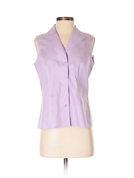 Jones New York Collection Sleeveless Button-Down Shirt Size 4