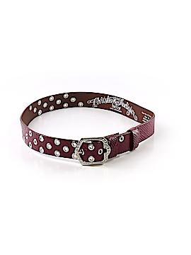 Christian Audigier Leather Belt Size M