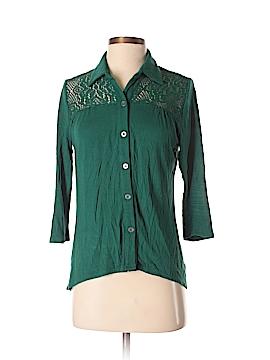 Weavers 3/4 Sleeve Button-Down Shirt Size M