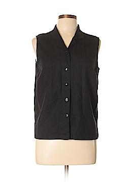 Christopher & Banks Sleeveless Button-Down Shirt Size L