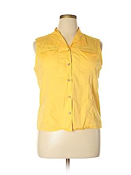 Westbound Sleeveless Button-Down Shirt Size XL