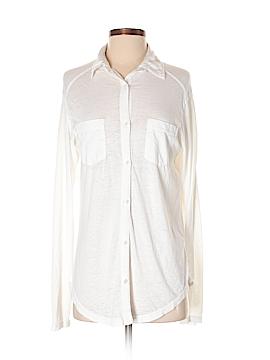 Rubbish Long Sleeve Button-Down Shirt Size S