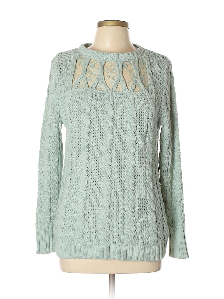 7194dc303079d6 LC Lauren Conrad Lace Light Blue Pullover Sweater Size L - 76% off ...