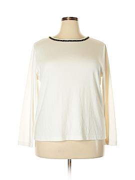 Susan Graver Long Sleeve T-Shirt Size 1X (Plus)