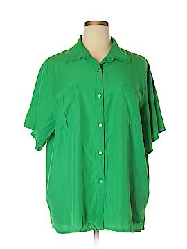 Westbound Short Sleeve Button-Down Shirt Size 2X (Plus)
