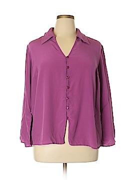 Venezia Long Sleeve Silk Top Size 22/24 Plus (Plus)