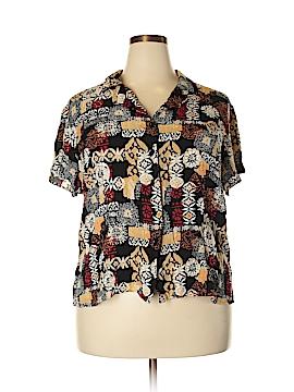 Sag Harbor Short Sleeve Blouse Size 18W (Plus)