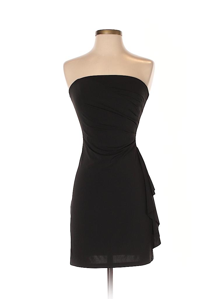 Allen by ABS Solid Black Cocktail Dress Size P - 74% off | thredUP