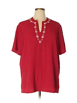 Cathy Daniels Short Sleeve Blouse Size 2X (Plus)