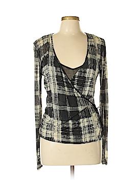City DKNY Long Sleeve Silk Top Size L