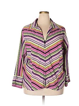 Ashley Stewart Long Sleeve Blouse Size 22/24 (Plus)