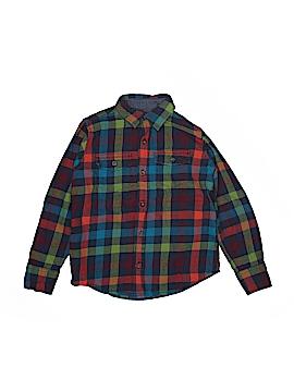 Lands' End Long Sleeve Button-Down Shirt Size Large kids (7)