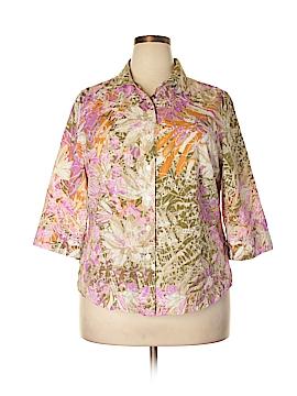 Alia 3/4 Sleeve Button-Down Shirt Size 16 (Petite)