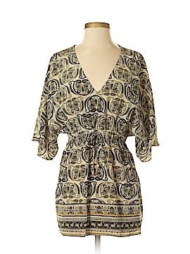 MICHAEL Michael Kors Short Sleeve Silk Top Size S