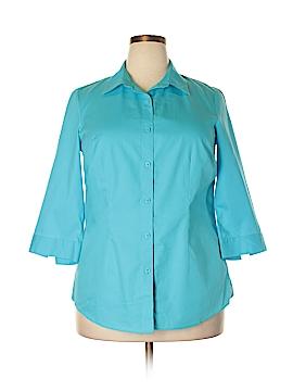 Coldwater Creek 3/4 Sleeve Button-Down Shirt Size XL