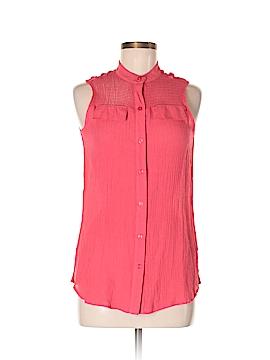 Zac & Rachel Sleeveless Button-Down Shirt Size M