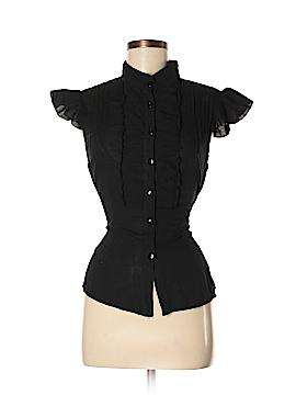 Pura Vida Short Sleeve Button-Down Shirt Size M