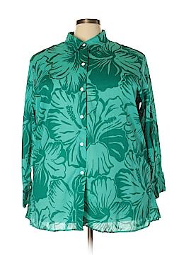 Liz Claiborne Long Sleeve Button-Down Shirt Size 3X (Plus)