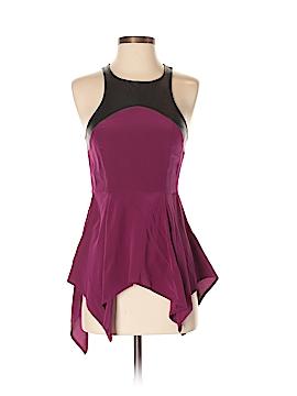 Patterson J. Kincaid Sleeveless Silk Top Size S