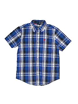 Wrangler Jeans Co Short Sleeve Button-Down Shirt Size 10 - 12