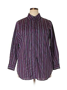 Roaman's 3/4 Sleeve Button-Down Shirt Size 14 (M)