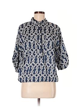 Joe Fresh 3/4 Sleeve Button-Down Shirt Size M