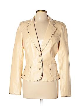Cache Leather Jacket Size 10