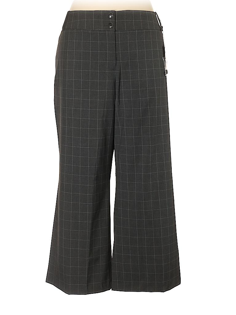 80dc5efe26c Lane Bryant Plaid Gray Dress Pants Size 28 (Plus) - 69% off