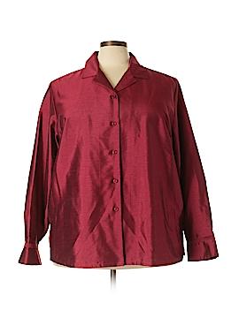 Emma James Long Sleeve Button-Down Shirt Size 22 (Plus)