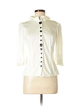 Etcetera 3/4 Sleeve Button-Down Shirt Size 2