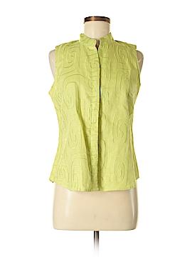 Susan Bristol Sleeveless Button-Down Shirt Size M