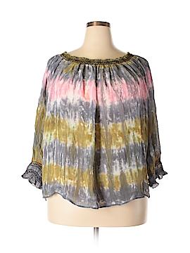 XCVI Short Sleeve Blouse Size 2X (Plus)