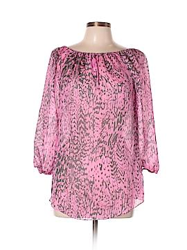 Yoana Baraschi 3/4 Sleeve Silk Top Size L