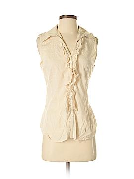 BCBGMAXAZRIA Sleeveless Button-Down Shirt Size M