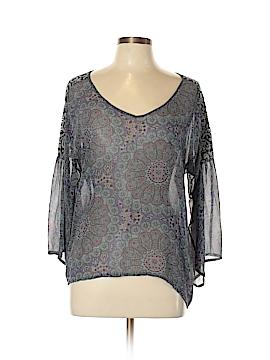 Language 3/4 Sleeve Silk Top Size S