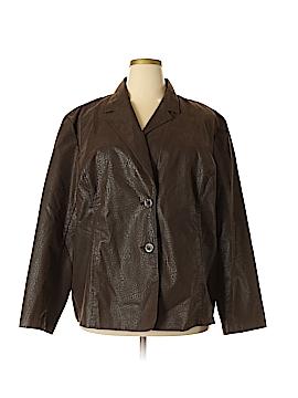 DressBarn Faux Leather Jacket Size 3X (Plus)