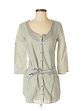 Armani Exchange 3/4 Sleeve Button-Down Shirt Size S