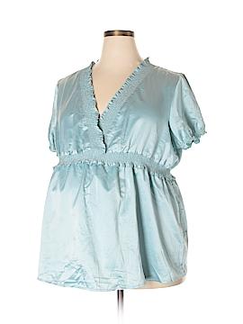 Duo Maternity Short Sleeve Blouse Size 2X (Maternity)