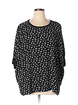 Bobeau Short Sleeve Blouse Size XL