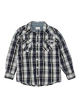 Weatherproof Long Sleeve Button-Down Shirt Size 14