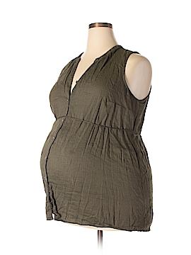 Liz Lange Maternity for Target Sleeveless Button-Down Shirt Size XXL (Maternity)