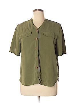 Westbound Short Sleeve Silk Top Size 14
