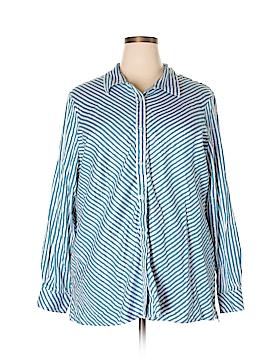 Blair Long Sleeve Button-Down Shirt Size 3X (Plus)