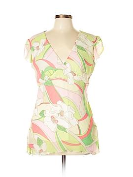 Tailor Vintage Short Sleeve Blouse Size XL