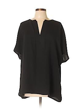Lafayette 148 New York Short Sleeve Silk Top Size XL